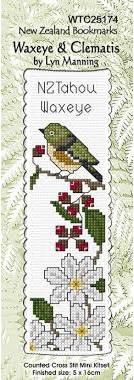 NZ Tahou Waxeye Bookmark Stitching Kit