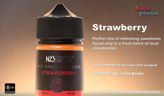 NZ Vapor Nic Salt e-Liquid - Strawberry