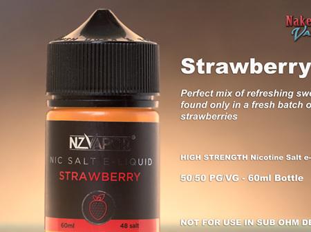 NZ Vapor - Strawberry - 60ml - Nic Salt e-Liquid