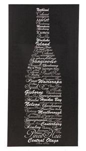 NZ Wine Typographic Canvas