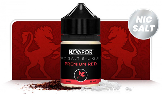 NZVapor Nicotine Salt e-Liquids now available at Naked Vapour - Premium Red