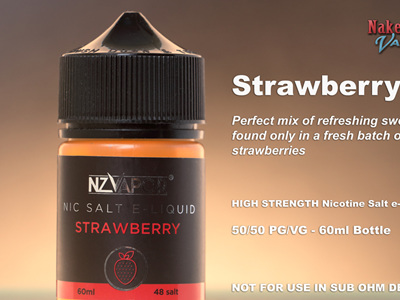 NZ Vapor - Strawberry - 60ml - Nic Salt e-Liquid