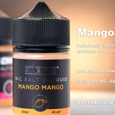 NZ Vapor - Mango Mango- 60ml - Nic Salt e-Liquid