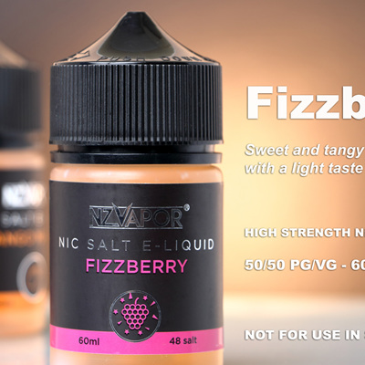 NZ Vapor - Fizzberry - 60ml - Nic Salt e-Liquid