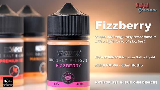 NZVapor Nicotine Salt e-Liquids now available at Naked Vapour - Fizzberry