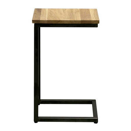 Oak and metal sofa arm/occassional table