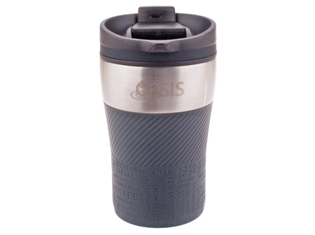 Oasis Cafe Stainless Steel Charcoal Grey 280ml