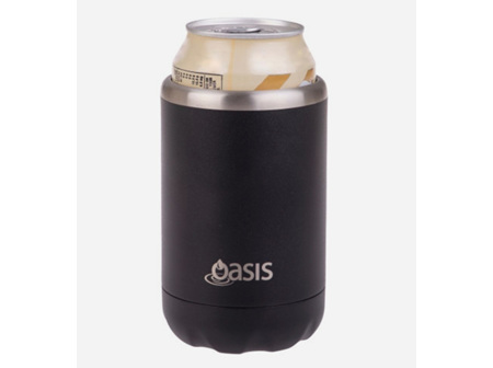Oasis S/S Insulated Cooler Black 375ml