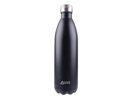 Oasis SS Matte Black 1L bottle