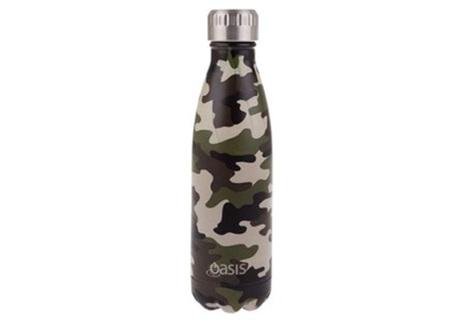 Oasis Stainless Steel Bottle Camo 500ml