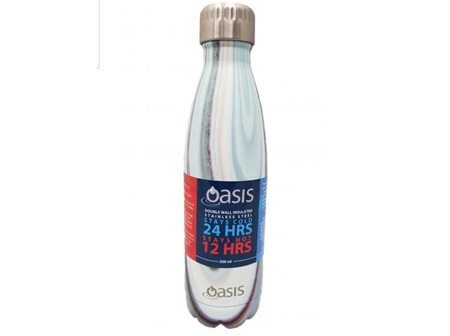 Oasis Stainless Steel Bottle Marble 500ml