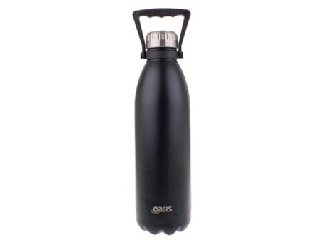 Oasis Stainless Steel Bottle Matte Black 1.5L