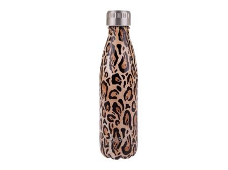 Oasis Stainless Steel Leopard Bottle 500ml