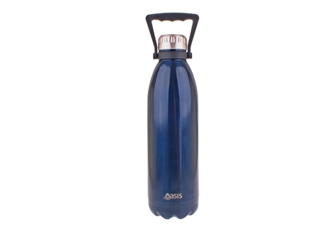 Oasis Stainless Steel Navy Bottle 1.5L