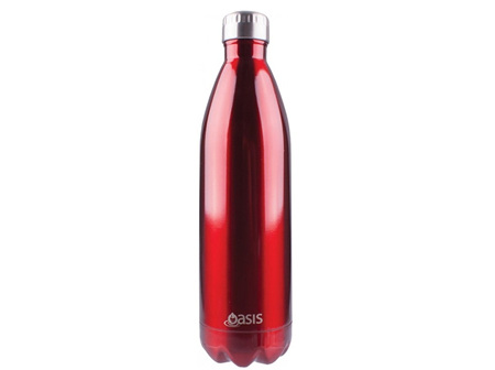 Oasis Stainless Steel Red Bottle 1L