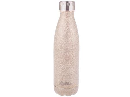 Oasis Stainless Steel Shimmer Champagne Bottle 500ml