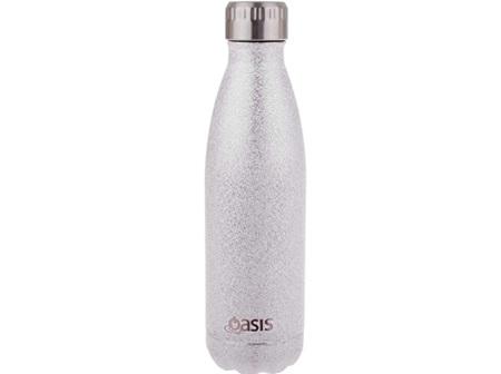 Oasis Stainless Steel Shimmer Silver Bottle 500ml