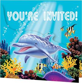 Ocean Party Invites x 8