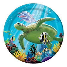 Ocean Party Plates - Lunch