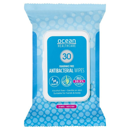 Ocean Wipes Hypoallergenic Alc/F 30