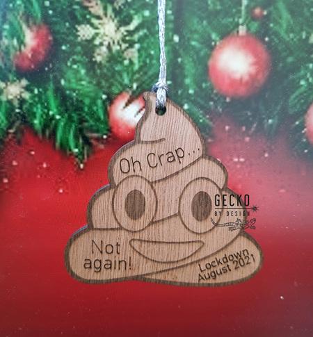 Oh Crap Ornament
