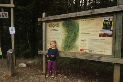 old ghost road with kids tramping in nz