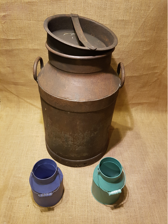 Old milk container wedding and event hire