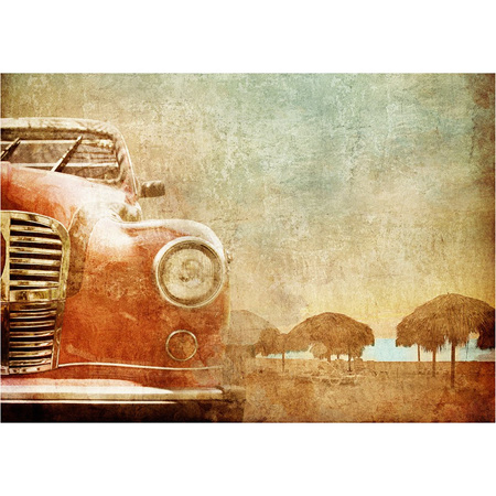 Old Red Car Decoupage Paper by Mint