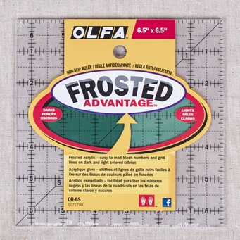 """Olfa Frosted Ruler 6.5"""" x 6.5"""""""