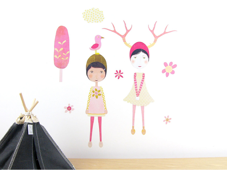 Olive & Emmeline wall decal