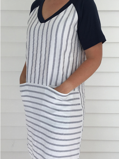 Olivia Blue Stripe