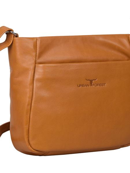 Olivia Zip Top Handbag w/Front Pocket - Florence Camel - CUFOLIVIACM