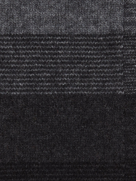 Ombre Possum Merino Poncho - Black Charcoal Pewter