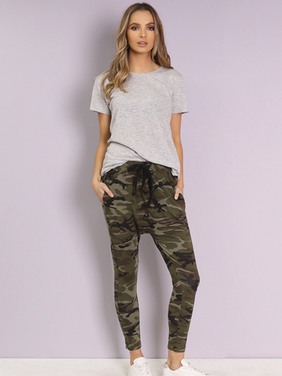 On Command Slouch Pants | Camo Print