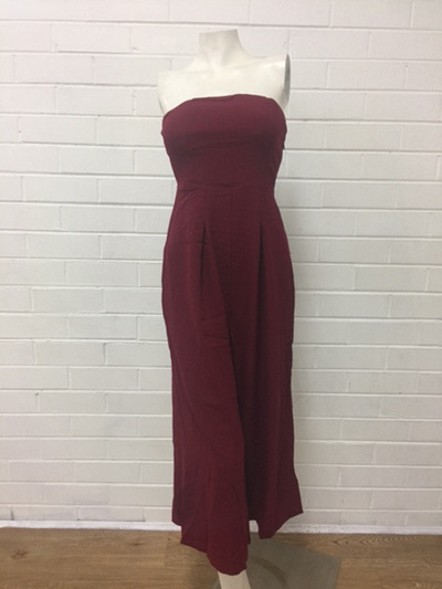 On the Island Jumpsuit - Burgundy