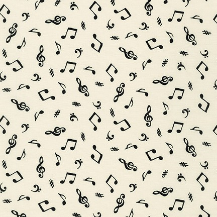 On the Lighter Side Music Notes Ivory 1920015