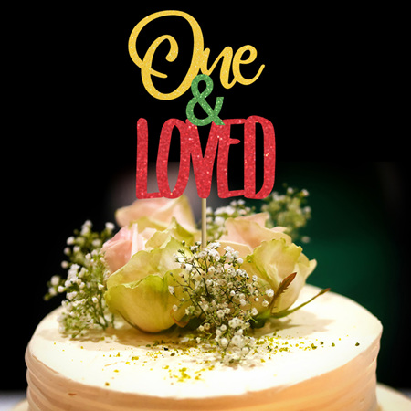 One and Loved Rasta Cake Topper