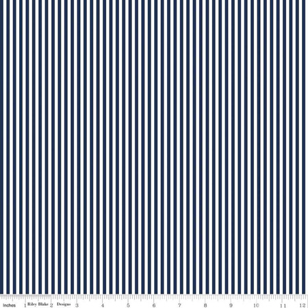 One and one eighth inch Stripe Navy C495n