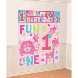 One Wild Girl Scene Setter Kit 1st Birthday