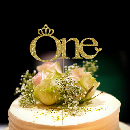One Year Old Crown Cake Topper