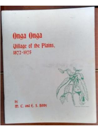 Onga Onga - Village of the Plains 1872 - 1975