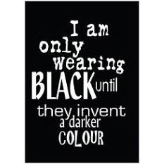 Wearing Black Fridge Magnet
