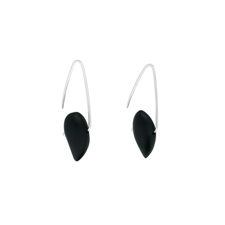 Onyx Sterling Silver Hook Earrings