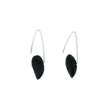 Onyx Sterling Silver Hook Earrings