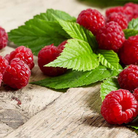 Oob Frozen Organic Raspberries or Fresh Spray-free Local