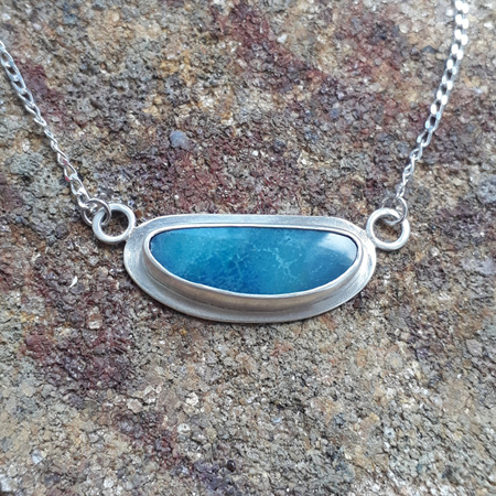 Opal Pendant - Ocean Blue