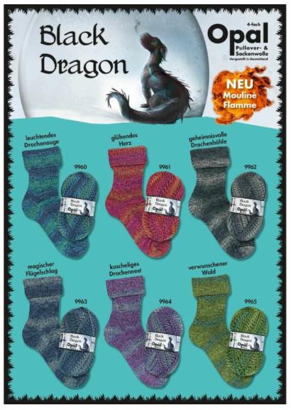 Opal Sock Yarn: Black Dragon