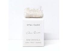 Opal+Sage Clear Quartz raw boxed Crystal