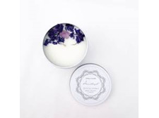 Opal+Sage Mandala Crystal Candle - Amethyst