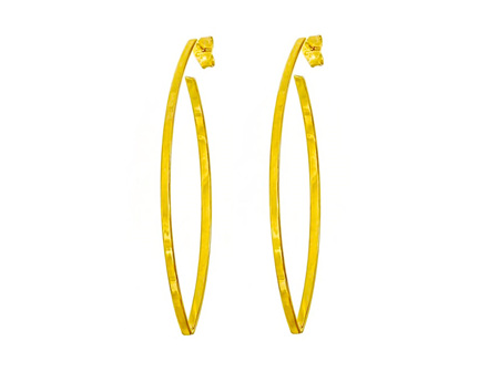 Open Marquise Shaped Drop Earrings